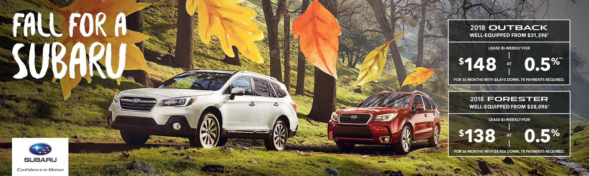 Fall For A Subaru