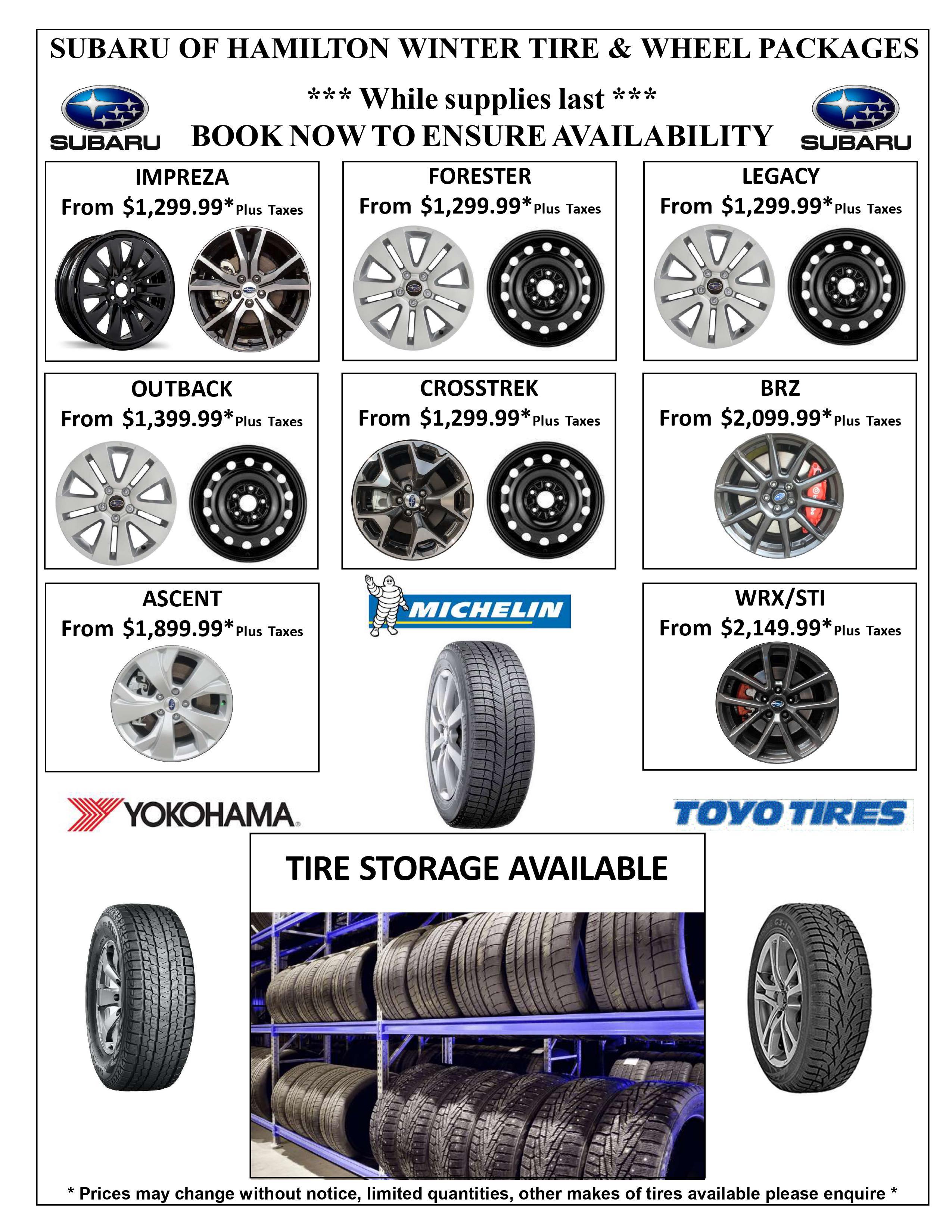 Winter Tire Wheel Package